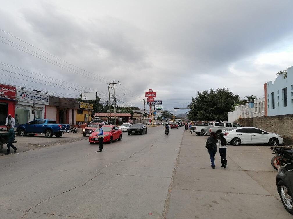 Estado original de la calle del proyecto Muévete Comayagua