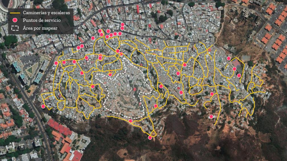 Mapeo comunitario en barrio San Miguel de La Vega