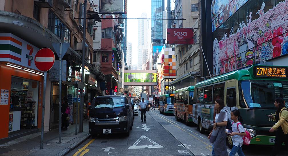 Callejón comercial de Hong Kong