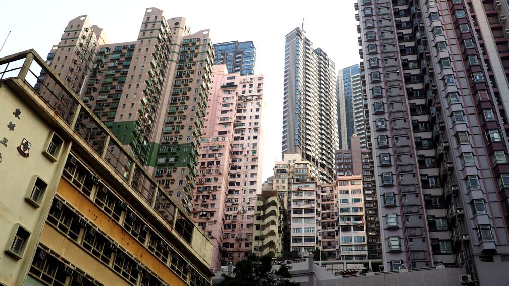 Edificios multifamiliares de alta densidad en Hong Kong
