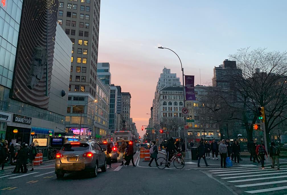 Union Square, corredor caliente de la ciudad