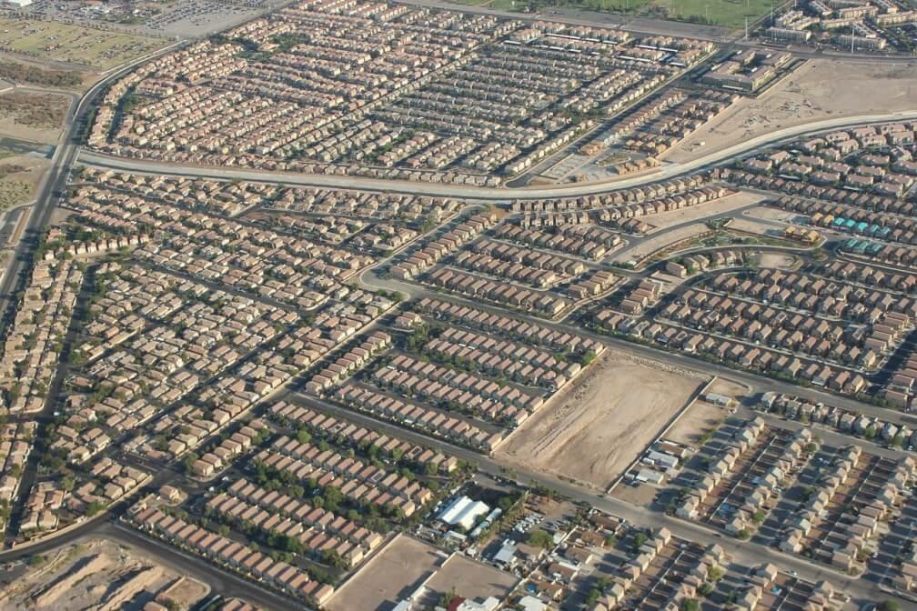 Dispersión urbana en Las Vegas