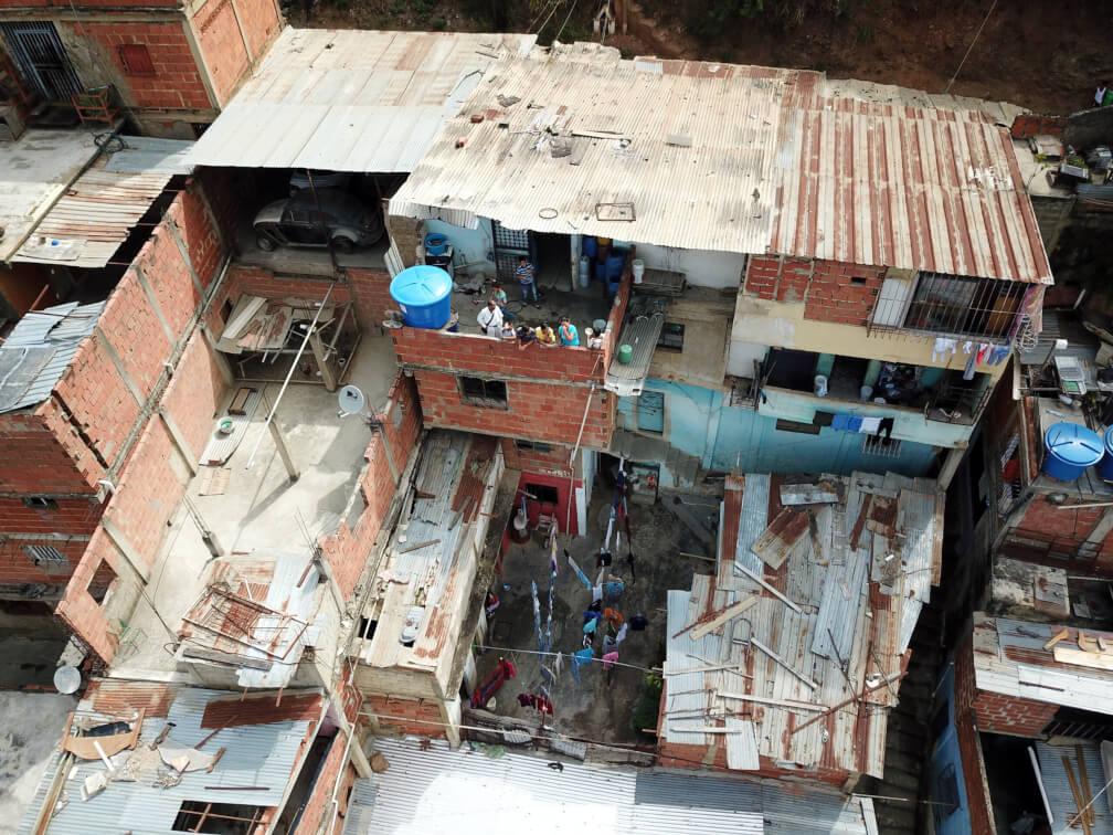 Foto aérea del sector El Cardón en Carapita, Caracas.