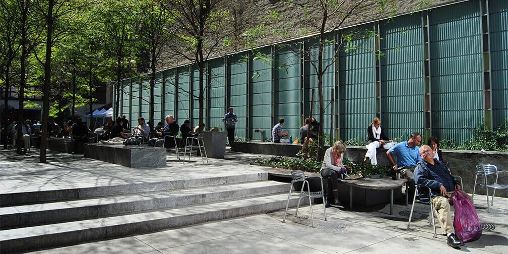 Las plazas urbanas de Nueva York